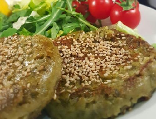Burger asparagi e piselli